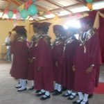 Children singing at the graduation ceremony