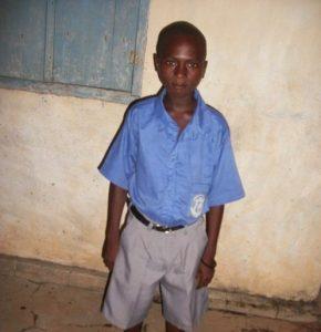 Scholarship recipient at the Makeni Camp