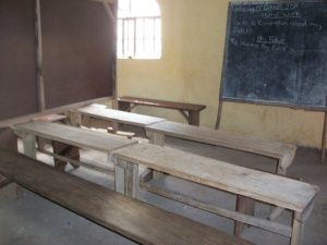 New benches and desks for the school
