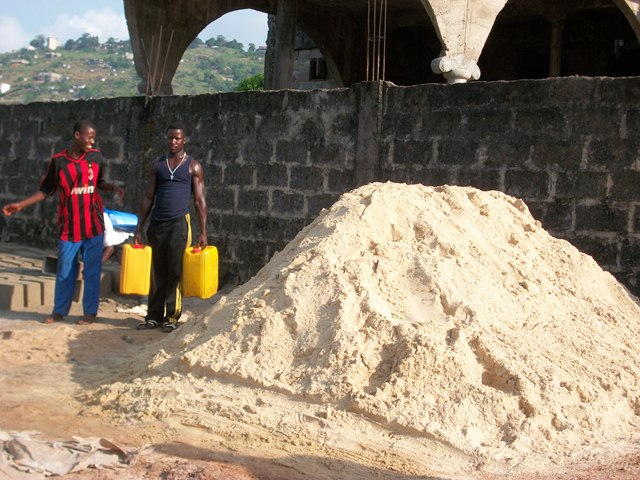 Sand for school building