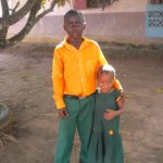 Two of the children who will live at the Orphanage